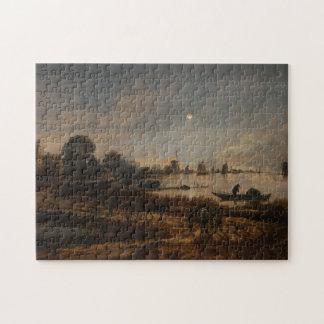 river landscape art Neer Jigsaw Puzzle