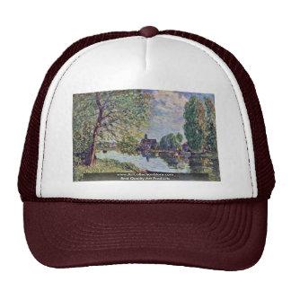 River Landscape At Moret-Sur-Loing Trucker Hats