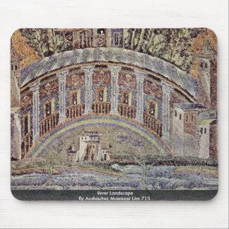 River Landscape  By Arabischer Mosaizist Um 715 Mouse Pad