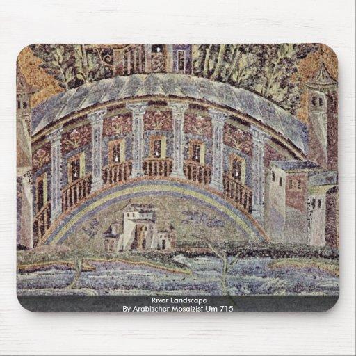 River Landscape  By Arabischer Mosaizist Um 715 Mousepads