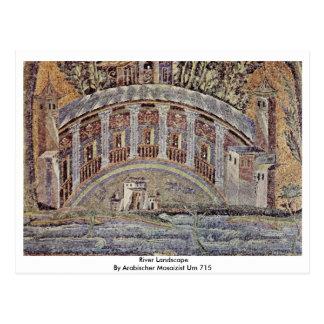River Landscape  By Arabischer Mosaizist Um 715 Postcard