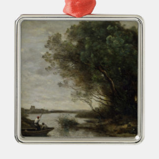 River Landscape Christmas Ornament