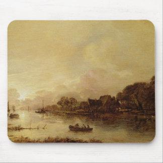 River landscape mouse mat