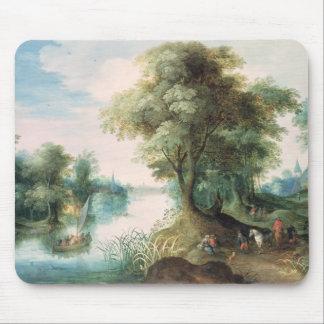 River Landscape Mouse Pad