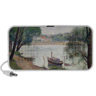 River Landscape with a boat PC Speakers
