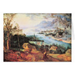 River Landscape with a sower by Pieter Bruegel Greeting Cards