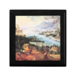 River Landscape with a sower by Pieter Bruegel Keepsake Boxes