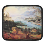 River Landscape with a sower by Pieter Bruegel Sleeve For iPads