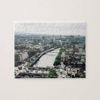 River Liffey puzzle, Dublin city Ireland panorama Jigsaw Puzzle