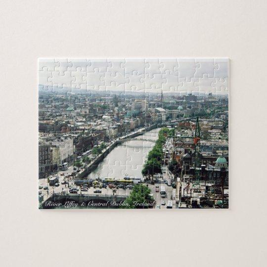 River Liffey puzzle, Dublin city Ireland panorama Jigsaw