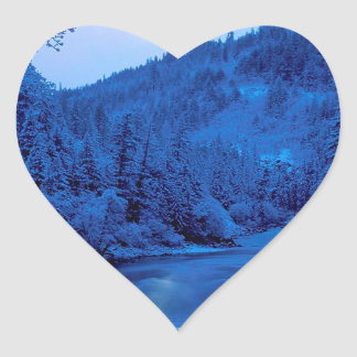 River Light Moon Scott Klamath Forest Heart Sticker