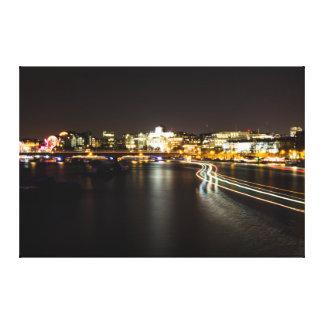 River Light Trails Canvas Print