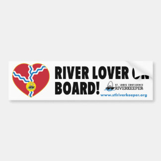 River Lover On Board Bumper Sticker