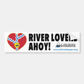 River Lovers Ahoy Bumper Sticker