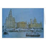 River Mersey  Liver Building  by Colin Carr-Nall Greeting Card