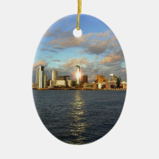 River Mersey & Liverpool Waterfront Christmas Ornament