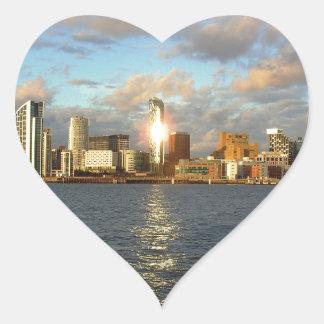 River Mersey & Liverpool Waterfront Heart Sticker