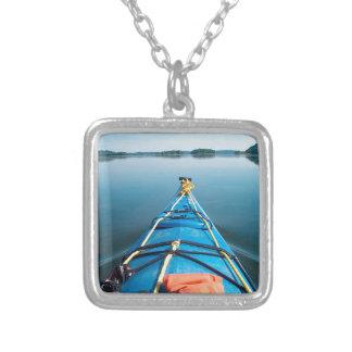 river mirror square pendant necklace