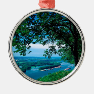 River Mississippi Mcgregor Iowa Christmas Ornament