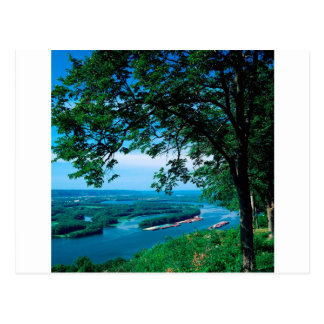 River Mississippi Mcgregor Iowa Postcard