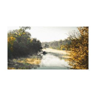 River morning canvas print