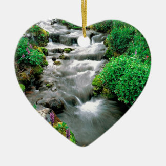 River Mount Adams Yakima Indian Reservation Ceramic Heart Decoration