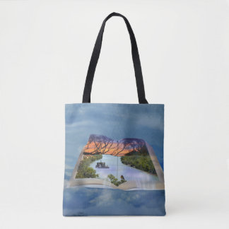 River Murray, Page In A Book Shopping Tote Bag