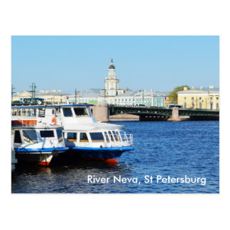 River Neva, St Petersburg Postcard