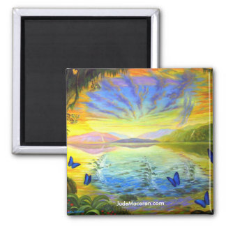 River Of Life-Magnet Square Magnet