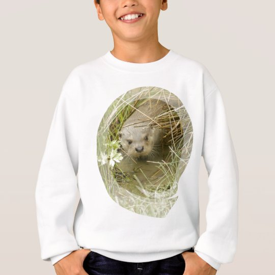 River Otter Habitat Kid's Sweatshirt