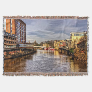 River Ouse Throw Blanket