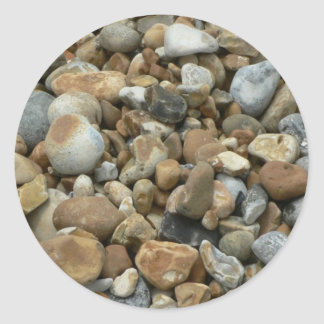 River Pebbles Round Stickers