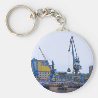 river port basic round button key ring