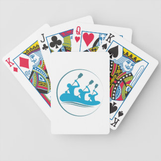 River Rafting Bicycle Playing Cards