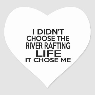 RIVER RAFTING LIFE DESIGNS HEART STICKER