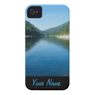 river rafting mountain scenery personalized iPhone 4 cover