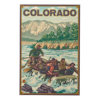 River RaftingColorado Wood Print