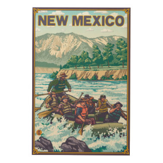 River RaftingNew Mexico Wood Wall Art