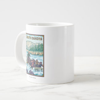 River RaftingSouth Dakota Giant Coffee Mug
