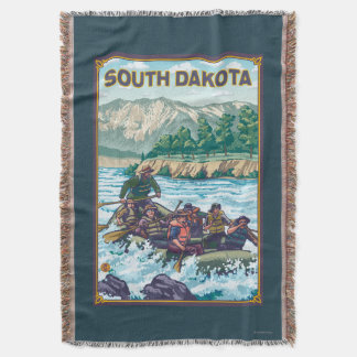 River RaftingSouth Dakota Throw Blanket