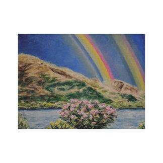 River Rainbows Canvas Print