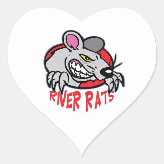 RIVER RATS HEART STICKER