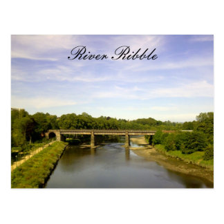 River Ribble, Lancashire Postcard
