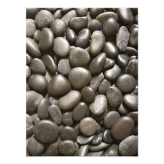 River Rock Black Stone Background - Customized Photo Print