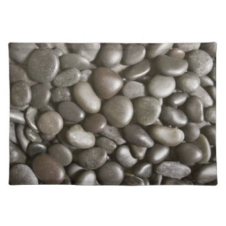 River Rock Black Stone Background - Customized Placemat