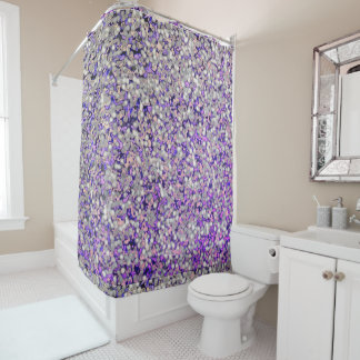River-Rock-Lavender's-Nature-Multi--Shower-Curtain Shower Curtain
