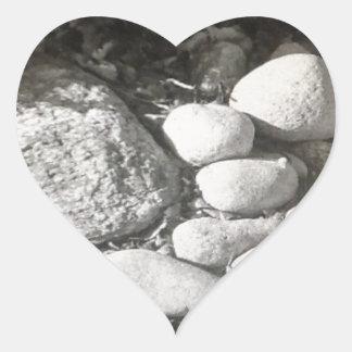 River Rock Heart Sticker