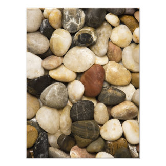 River Rock Stone Background - Customized Template Art Photo