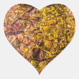 River Rocks Heart Sticker