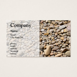 River Rocks Pebbles Business Card